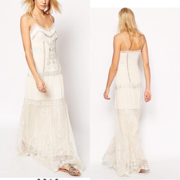 ASOS DESIGN Ivory Maxi Dress